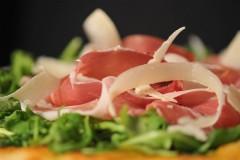 brick oven pizza with procuitto